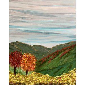 Autumn in the Hills Original Painting 11 x 14